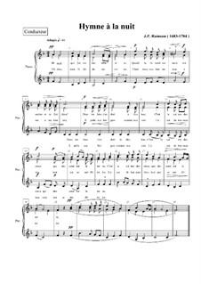 Hymne á la Nuit: Клавир с вокальной партией by Жан-Филипп Рамо