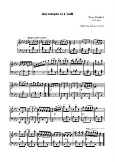 Четыре экспромта для фортепиано, D.935 Op.142: Экспромт No.4 (ноты высокого качества) by Франц Шуберт