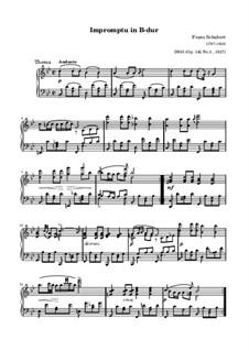 Четыре экспромта для фортепиано, D.935 Op.142: Экспромт No.3 (ноты высокого качества) by Франц Шуберт