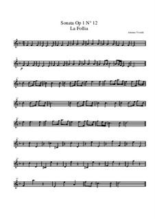 Трио-соната No.1 ре минор, RV 63 Op.1: Партия второй скрипки by Антонио Вивальди