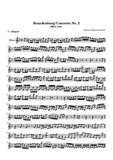 Бранденбургский концерт No.2 фа мажор, BWV 1047: Партия гобоя by Иоганн Себастьян Бах