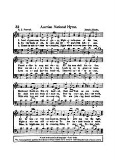 Австрийский национальный гимн, Hob.XXVIa/43: Вокальная партитура by Йозеф Гайдн