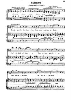 Nazareth: Клавир с вокальной партией by Шарль Гуно