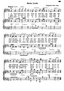 Санта Лючия: Ре-бемоль мажор by folklore