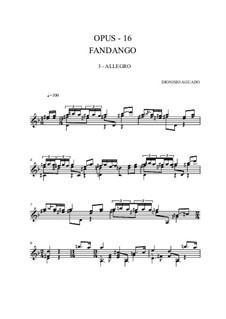 Le fandango, Op.16: Аллегро by Дионисио Агуадо