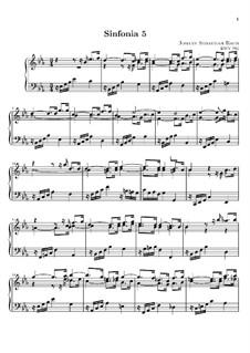 No.5 ми-бемоль мажор, BWV 791: Для клавишного инструмента (ноты высокого качества) by Иоганн Себастьян Бах