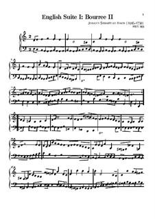 Сюита No.1 ля мажор, BWV 806: Бурре II by Иоганн Себастьян Бах