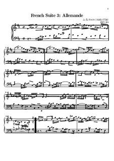 Сюита No.3 си минор, BWV 814: Аллеманда by Иоганн Себастьян Бах