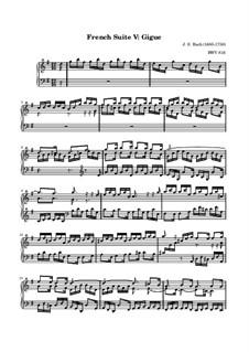 Сюита No.5 соль мажор, BWV 816: Жига by Иоганн Себастьян Бах