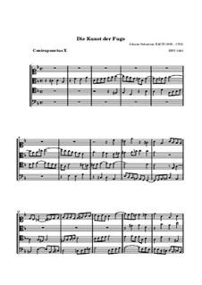 Искусство фуги, BWV 1080: No.10 by Иоганн Себастьян Бах