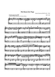 Искусство фуги, BWV 1080: No.15 by Иоганн Себастьян Бах