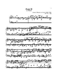 Прелюдия и фуга No.2 до минор, BWV 871: Для клавишного инструмента by Иоганн Себастьян Бах