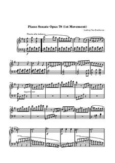 Соната для фортепиано No.25, Op.79: Часть I by Людвиг ван Бетховен