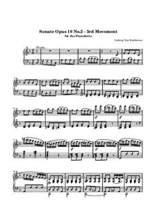 Соната для фортепиано No.6, Op.10 No.2: Часть III (Престо) by Людвиг ван Бетховен