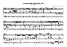 Nun bitten wir den heiligen Geist, BuxWV 208: Для органа by Дитрих Букстехуде