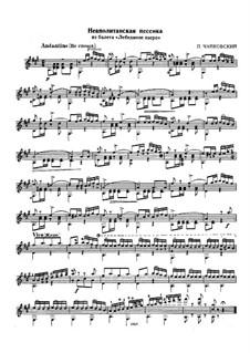 No.18 Неаполитанская песенка: Для гитары by Петр Чайковский