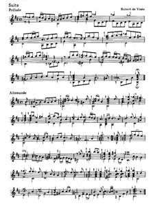 Сюита для гитары си минор: Сюита для гитары си минор by Robert de Visée