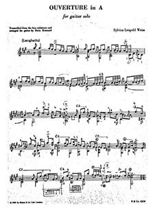 Увертюра ля мажор: Для гитары by Сильвиус Леопольд Вайс