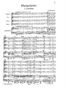 Реквием до минор: Клавир с вокальной партией by Луиджи Керубини
