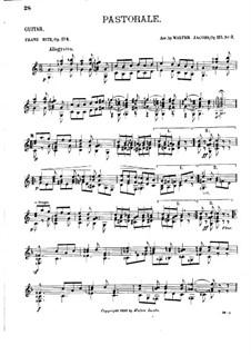 Пастораль, Op.174: Пастораль by Франц Хитц