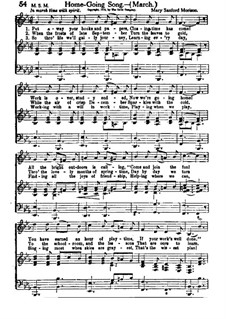 Home Going Song: Home Going Song by Mary Sanford Morison