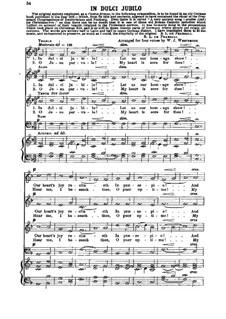 In Dulci Jubilo: In Dulci Jubilo by Иоганн Вальтер