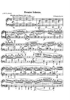 Скерцо No.1 си минор, Op.20: Для фортепиано by Фредерик Шопен