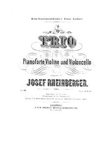 Фортепианное трио No.1 ре минор, Op.34: Фортепианное трио No.1 ре минор by Йозеф Габриэль Райнбергер