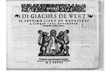 Мадригалы для пяти голосов: Тетрадь VII by Жьяш де Верт
