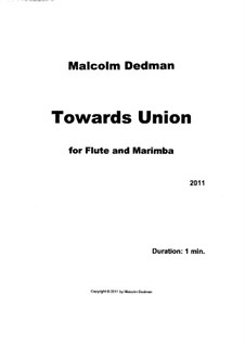 Towards Union, MMD19: Towards Union by Malcolm Dedman