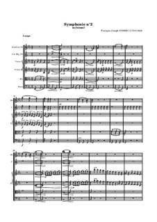 Симфония No.2 ми-бемоль мажор: Партитура by Франсуа Жозеф Госсек
