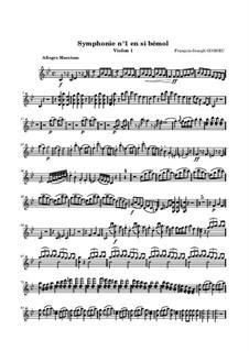 Симфония No.1 си-бемоль мажор: Скрипка I by Франсуа Жозеф Госсек