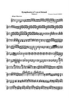 Симфония No.1 си-бемоль мажор: Скрипка II by Франсуа Жозеф Госсек