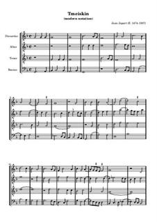 Tmeiskin (Modern Notation): Tmeiskin (Modern Notation) by Jean Japart