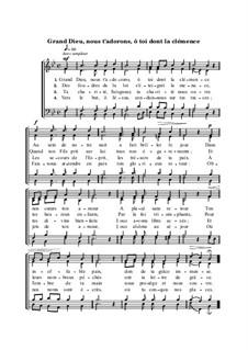 Grand Dieu, nous t'adorons, ô toi dont la clémence: Grand Dieu, nous t'adorons, ô toi dont la clémence by Анри Малан