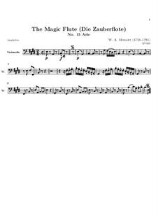 Вражда и месть нам чужды: Партия виолончели by Вольфганг Амадей Моцарт