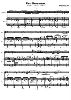 Три романса для гобоя (или скрипки) и фортепиано, Op.94: Романс No.1 by Роберт Шуман