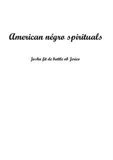 Joshua Fit de Battle ob Jericho (Joshua Fit the Battle): Для голоса и фортепиано by folklore