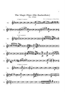В страданьях дни мои проходят: Партия гобоя by Вольфганг Амадей Моцарт