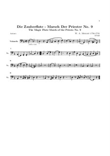 Марш жрецов: Партия виолончели by Вольфганг Амадей Моцарт