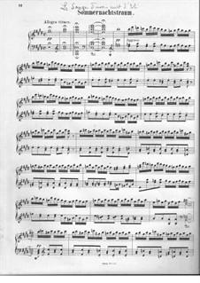 Сон в летнюю ночь, Op.21: Увертюра, для фортепиано by Феликс Мендельсон-Бартольди