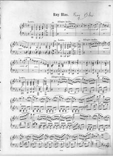 Рюи Блаз, Op.95: Увертюра, для фортепиано by Феликс Мендельсон-Бартольди