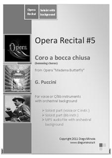 Мадам Баттерфляй: Coro a bocca chiusa (Humming Chorus) by Джакомо Пуччини