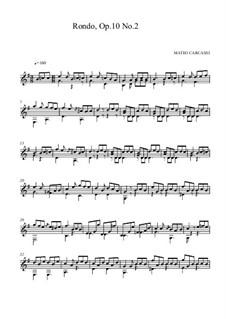 Двенадцать легких пьес, Op.10: No.2 Рондо by Маттео Каркасси