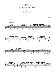Barden-Klänge (Bardic Sounds), Op.13: No.22 Four Polonaises by Иоганн Каспар Мерц