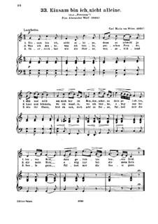 Прециоза, J.279 Op.78: Akt II Nr.6 Einsam bin ich, nicht allein, für Stimme und Klavier by Карл Мария фон Вебер