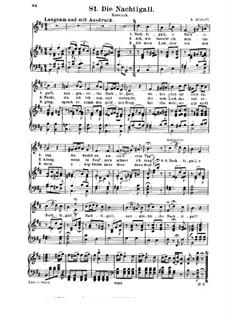 Соловей: Для голоса и фортепиано (си минор) by Александр Алябьев