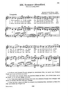 Sommer-Abendlied: Sommer-Abendlied by Вильгельм Готтлиб Беккер
