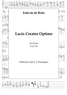 Lucis Creator Optime: Lucis Creator Optime by Estêvão de Brito