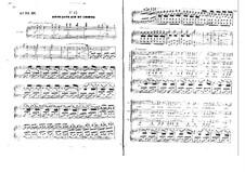 Бронзовая лошадь: Акт III, клавир с вокальной партией by Даниэль Обер